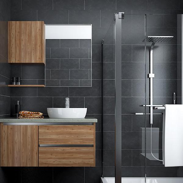 Oppein Us Kitchen Cabinet Furniture Manufacturer Wood Grain Color Hpl Bathroom Vanity Bc16 Hpl02
