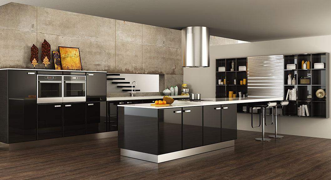 Contemporary-Black-Lacquer-Kitchen-Cabinet-OP15-L15 (2)